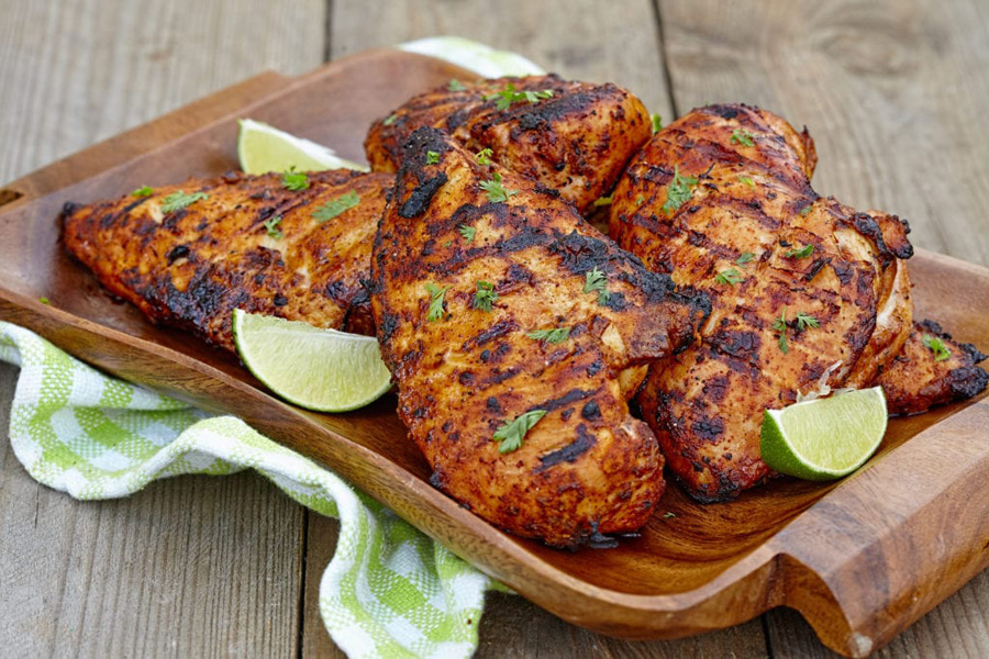 Grilled chicken breasts with chipotle lime and garlic Cook's Delight soup base