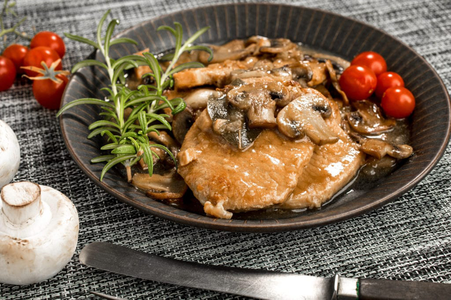 Crock Pot Pork with Mushrooms and Onions Recipe